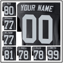 100% Stitched With Customized #71 Menelik #72 Donald #72 John #75 Howie #77 Lyle #78 Justin#80 Jerry Elite Black Football Jersey(China (Mainland))