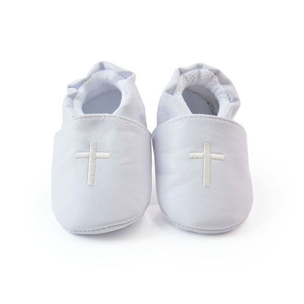 Baby Boy Girl Cross Baptism Christening Shoes Church Soft Sole Leather Shoes(China (Mainland))