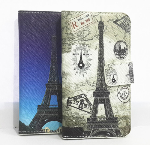 Cute Tower Card slots Wallet Pouch PU leather Case Cover For Blackberry Bold 9700 9780(China (Mainland))