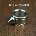High Quality Stainless Steel Self Defense Ring For Women Men Safety Outdoor Survial Kit EDC Tool