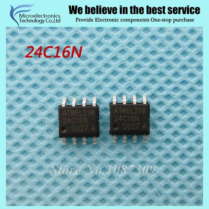 Гаджет  10PCS free shipping AT24C16N 24C16N 24C16 AT24N16 SOP-8 EEPROM 16k 2-Wire Bus new original None Электронные компоненты и материалы