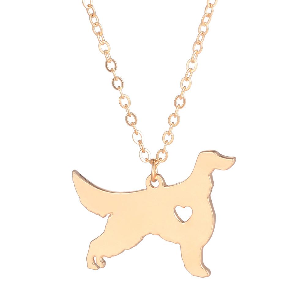 Hot Sale 10pcs Irish Setter Necklace Custom Dog Gift Pet Lover Memorial Rescue Pendant Christmas Gift Dog Lovers For Women Gift