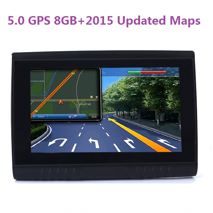 New Version 5 0 Inch 8GB FM Waterproof Bluetooth GPS Navigator for Car Motorcycle Free Updated