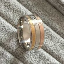 Large 12mm the lorde of  the gold rings men women 316L Titanium gold rose gold silver Religious Prayer Padre Nuestro Bible Rings