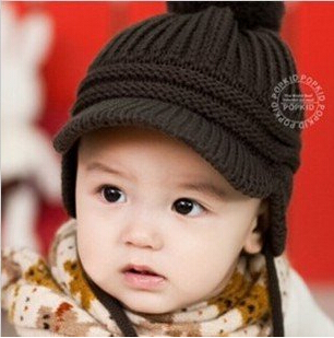 Autumn Children's Caps Fashion Warm Knitted Wool Baby Boys Beanie Winter Hats Hot Selling Girls Hat M34 - Lucinda's Potato store
