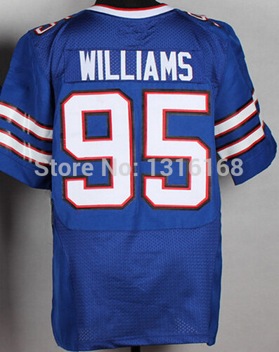 #95 Kyle Williams Jersey Cheap Elite Game Limited Team Color Blue Kyle Williams Embroider Logo American Football Jerseys(China (Mainland))