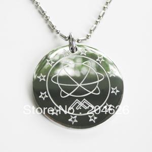 7pcs/lot germanium far infrared stainless steel scalar energy quantum pendants