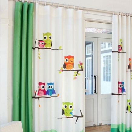 online kaufen gro handel owl curtain aus china owl curtain. Black Bedroom Furniture Sets. Home Design Ideas
