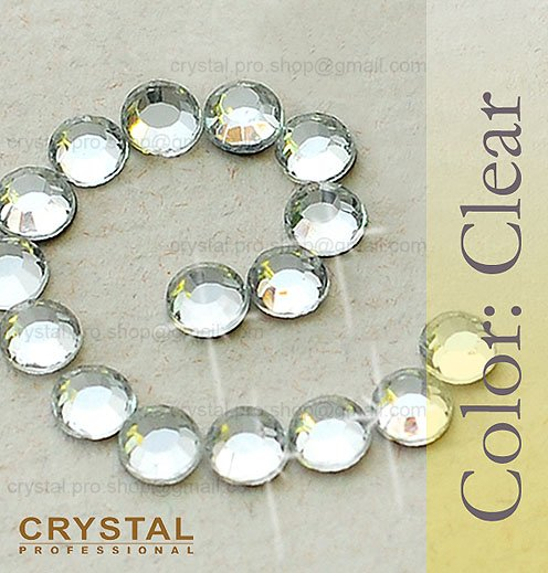 144 pcs. ss10 Crystal Clear 3mm wholesale bulk 1 gross glass hot fix 10ss iron on Loose beads stone FLATBACK hotfix rhinestone(Hong Kong)