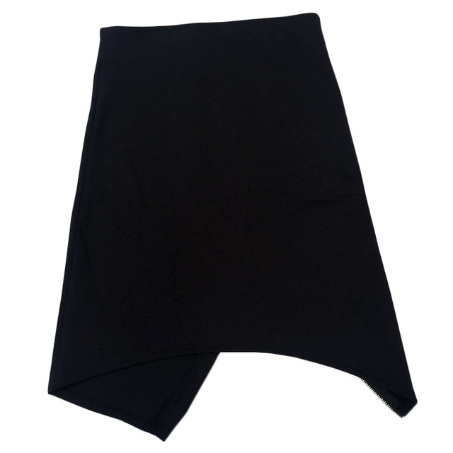 Women Sexy Black Irregular Split Mini Skirts with Zipper Lady Summer Slim Pencil Asymmetrical Fashion Jupe Clothing Saias Skirt