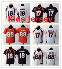 Kids youth Free fast shipping Best Quality 94 DeMarcus Ware 7 John Elway 58 Von Miller 88 Demaryius Thomas 30 Anthony Davis(China (Mainland))