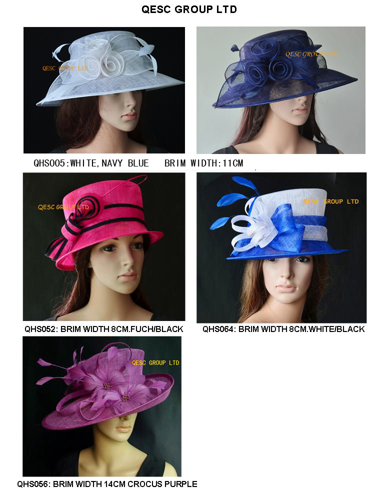 New Design wide brim dress Sinamay Hats Church hats sell in mix style, for races/Kentucky Derby wedding,can't pick style(China (Mainland))