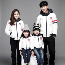 t-child winter tidal Korean personality Mianfu thick warm for a family of three children the whole family pack installed(China (Mainland))