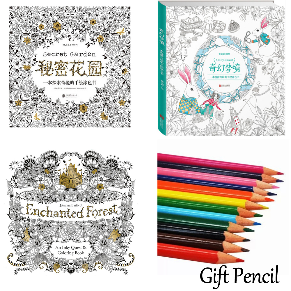 Secret Garden An Inky Treasure Hunt And Coloring Book For Children Forest Relieve Stress