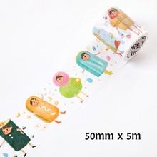 24 estilo Kawaii Snacks decorativos cinta adhesiva Washi cinta DIY Scrapbooking cinta adhesiva escuela lindo regalo de papelería(China)