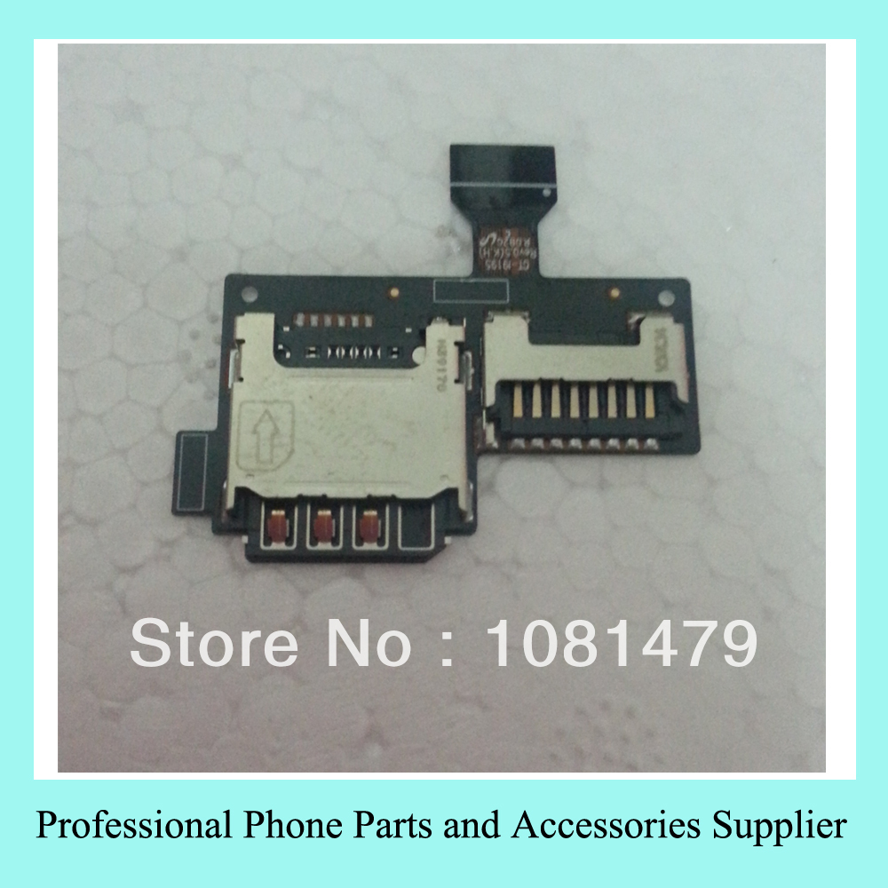 5PCS/LOT Sim Tray SD Card Micro Rearder Holder Flex Cable for Samsung Mini i9195 Galaxy S4 Free Shipping(China (Mainland))