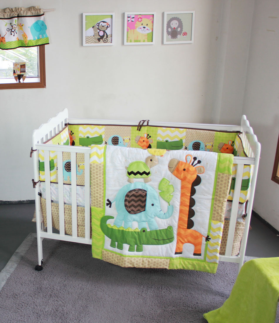 2014 New Baby Cotton Crib Bedding Set For Boys And Girls