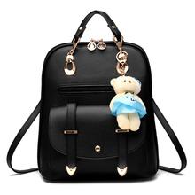 2016 fashion Japanese style kawaii backpack female anime backpack girl high school student backpack leather PU