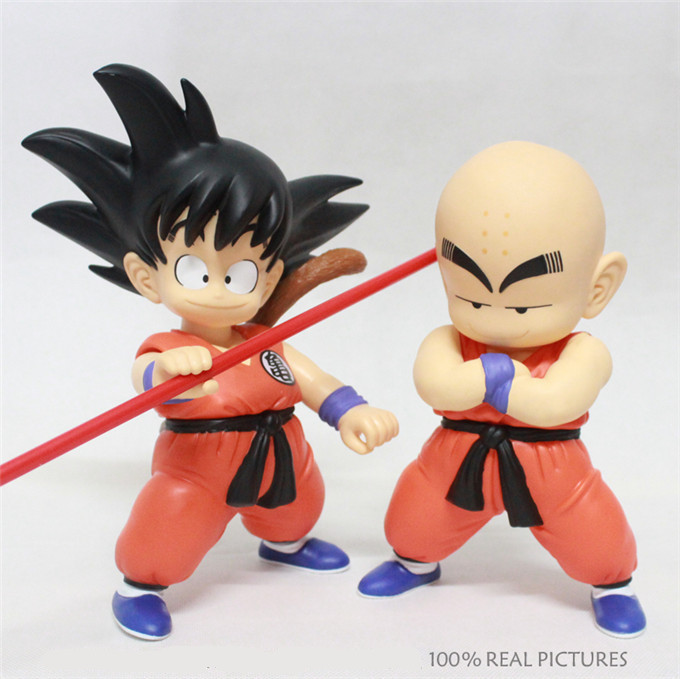 Blister Packing 2pcs/lot Japanese Anime Dragon Ball Z Goku Kuririn PVC Action Figures Model Collection Toy(China (Mainland))