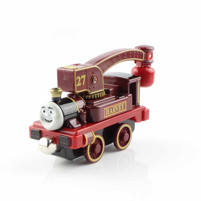 2016 Thomas and friends trains the tank engine railway metal magnetic crane truck die cast models toys play mini for kids Harvey(China (Mainland))