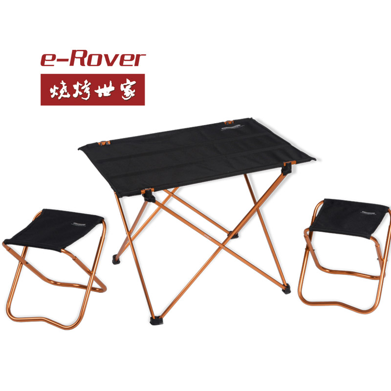 FREESHIPPING 1table 2stools Picnic tables and chairs set aluminum alloy fold