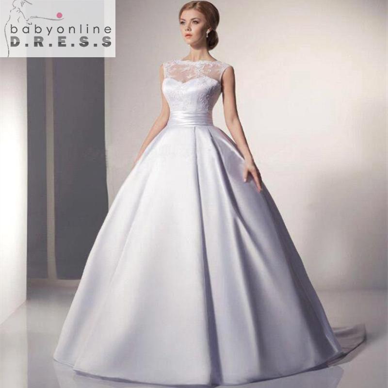 Wedding Dresses Under 100 : Cheap ball gown wedding dress under a line scoop bridal dresses