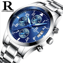 Buy Top Brand Business Quartz Watches Men Stainless Steel Band 30m Waterproof Luminous Mens Quartz-Watch Male Wrist watches orologio for $16.98 in AliExpress store