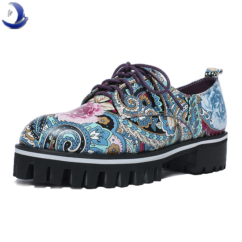2016 new Colorful designs women Real genuine leather flower shoes ladies fashion flat shoes Bohemian ethnic style ankle shoes /(China (Mainland))