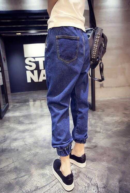 Korean version Harajuku loose bf wind elastic waist jeans harem pants Significantly thin  trousersОдежда и ак�е��уары<br><br><br>Aliexpress