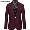 Men Casual Blazer Slim Fit Stylish Mens Suit Jacket Burgundy Navy Black Spring Autumn Business British