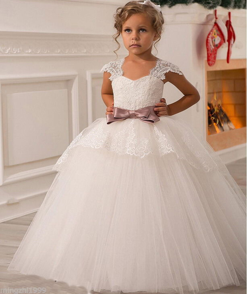 2015 new wedding party formal flower girls dress baby pageant dresses birthday communion toddler. Black Bedroom Furniture Sets. Home Design Ideas