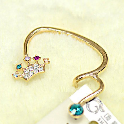 #912 New Design High Quality 16k Gold Crown Shaped Ear Cuff For Women Charms Free Shipping 4pcs/lot