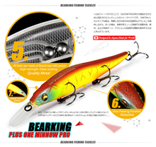 Great Discount!Retail fishing lures,assorted colors quality Minnow 110mm 14g,Tungsten ball bearking 2017 model crank bait(China (Mainland))