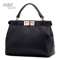 New 2015 Europe And America Style High Quality  Women Leather Handbag