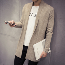 Mens Cashmere Sweater Plus Size Spring New Slim Fit Cardigan Men Long Simple Turn Down Collar Casual Sweater Men 5XL-M 5Colors(China (Mainland))