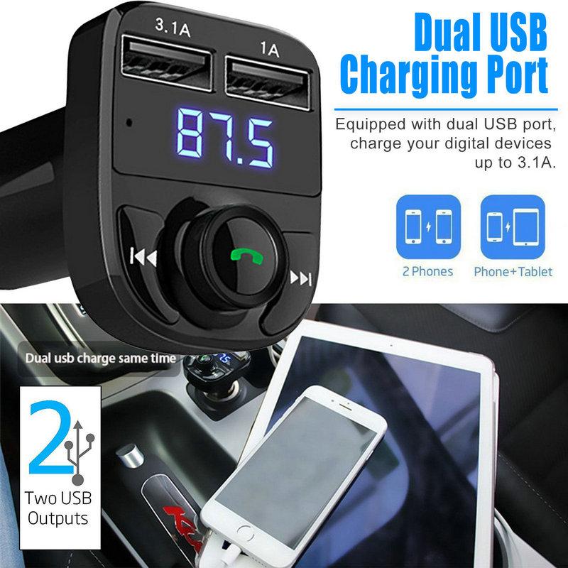 Dual USB Car Charger Bluetooth Car Kit (20)