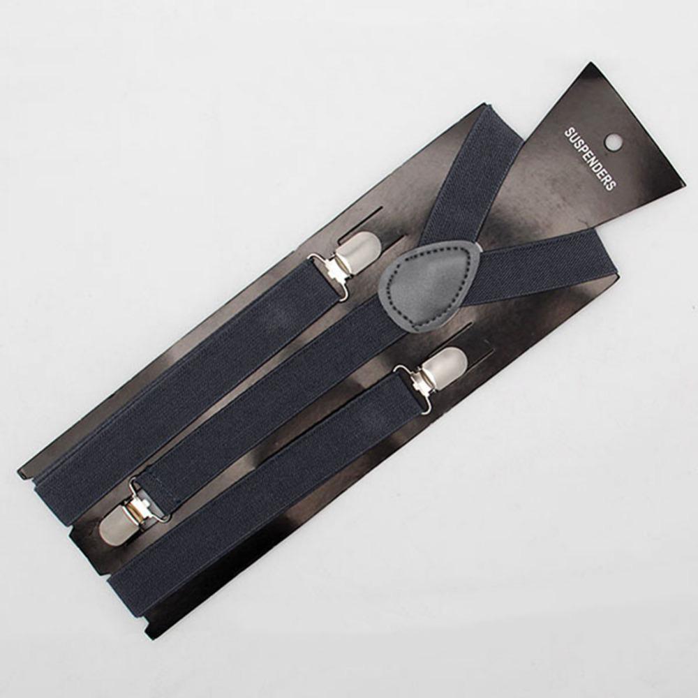 Узкие настроить унисекс брюки Y - задняя часть подтяжк скобки прорезиненная тесьма мужские дамы клип - на # 8433