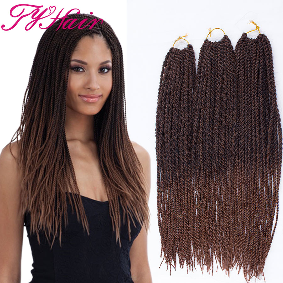 Crochet Hair Ombre : ... Ombre Braiding Hair Crochet Senegalese Twist Hair Extensions-in Hair