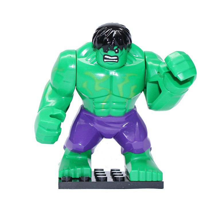 20pcs Action font b Figures b font 7CM large Green HULK with purple pants minifigures Building