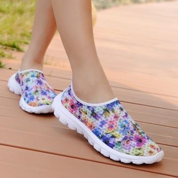 2015 новое поступление корейский мода кроссовки, женская свободного покроя цветочный ...