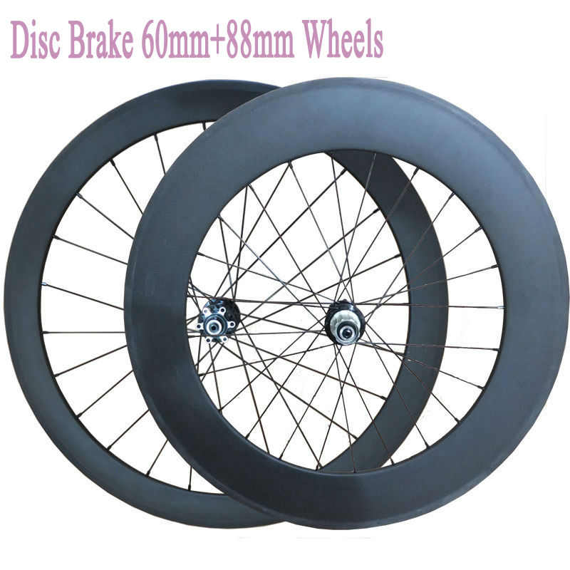 23mm Width Disc Brake 60mm+88mm Clincher Tubular Carbon Wheels 700C Carbon Bicycle Cyclocross Disc Wheelset(China (Mainland))