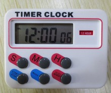 Temporizador reloj 12 / 24 horas con memoria funcation Kitchen Cooking Digital LCD deportivo Countdown calculadora