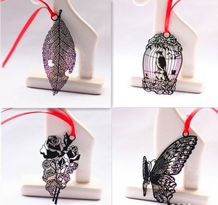 Wholesale Rose,Butterfly,Birdcage,Leaf,Feather 5 Classic designs Metal Bookmark (15Pcs/lot)Free shipping<br><br>Aliexpress