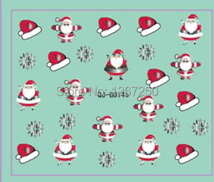 3D Christmas Metallic Silver Nail Sticker Decal QJ-G014s Nail Art Decoration for Holidays(China (Mainland))