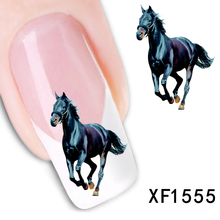 1 Pcs Horse Design New Arrival Water Transfer Nail Art Stickers Decal + Free Shipping