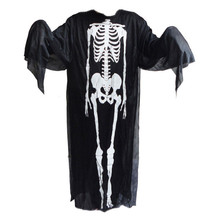 Free Shipping 1set of Ghost Costume for Halloween Party Scary Scream Skeleton Skull Horror Prank Practical Joke Supply Gifts(China (Mainland))