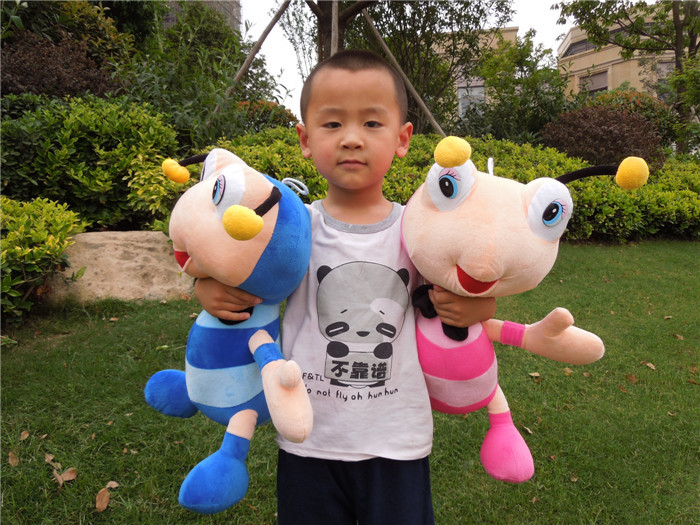 Free shipping ant plush doll ant soft stuffed toy the bee soft plush toy 55cm big size(China (Mainland))