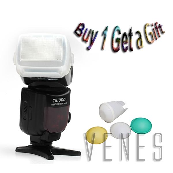 Hottt buy 1 get 1 gift!!!! TR-960II Upgrade Slave Flash Speedlite work Canon Nikon Pentax Olympus Panasonic Camera