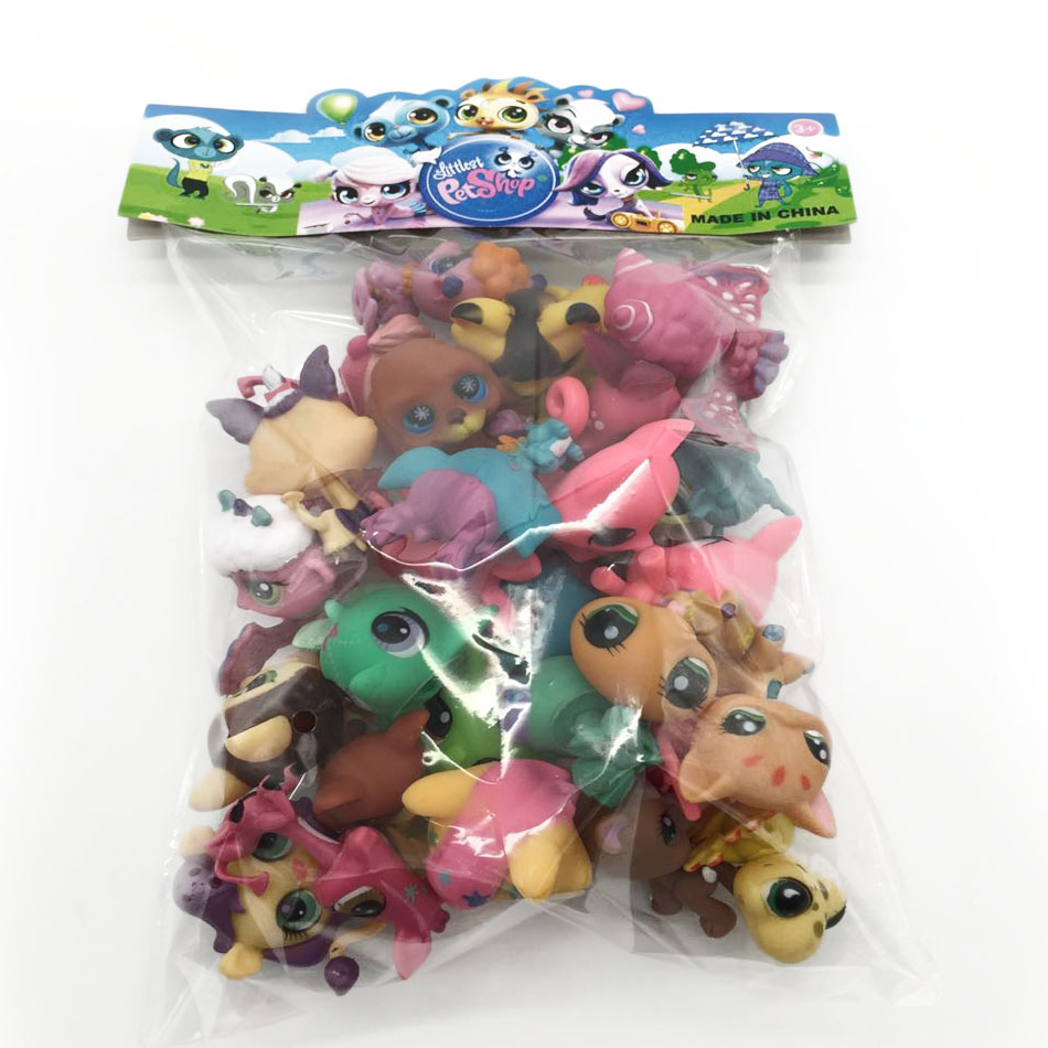 Toy bag 20Pcs/bag Little Pet Shop LPS Toys Animal Cartoon Cat Dog Action Figures Collection Kids toys Gift for Children 0019