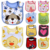 New 2014 Child 100% Cotton Waterproof Muffler Scarf Bib Embroidered Baby's Bib 5/Lot